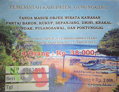 tiket-masuk-pulangsawal Pantai Indrayanti Sekalian ke Pantai Pulangsawal