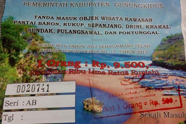 Tiket Masuk Pantai Krakal