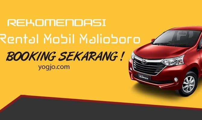 Rekomendasi Rental Mobil Malioboro